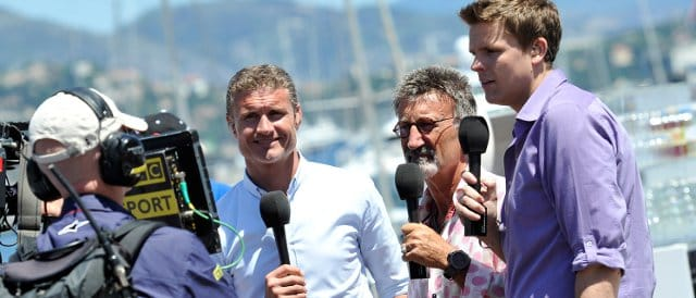 The faces that currently deliver F1 to the UK fans: (left to right) David Coulthard, Eddie Jordan and Jake Humphrey - Photo Credit: Gareth Cattermole/Getty Images