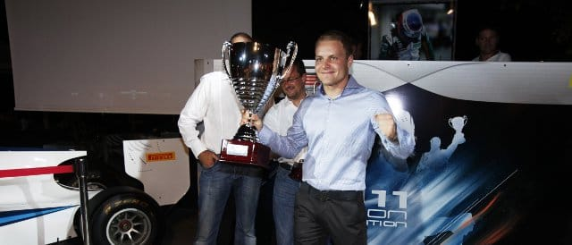Bottas, who is the Williams test and reserve driver, collected his GP3 championship trophy in September - Photo Credit: Drew Gibson/GP3 Media Service