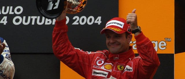 Barrichello secured pole at Interlagos in 2004, and went on to finish third behind Juan Pablo Montoya and Kimi Raikkonen - Photo Credit: Ferrari