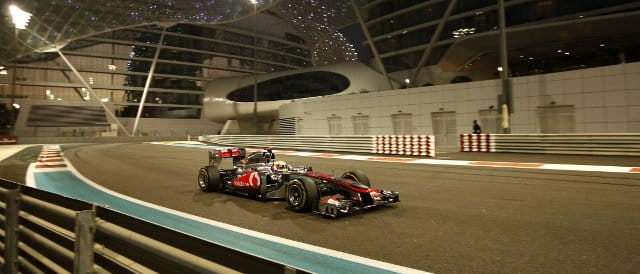 Lewis Hamilton was the fastest driver during Friday practice in Abu Dhabi today - Photo Credit: Vodafone McLaren Mercedes
