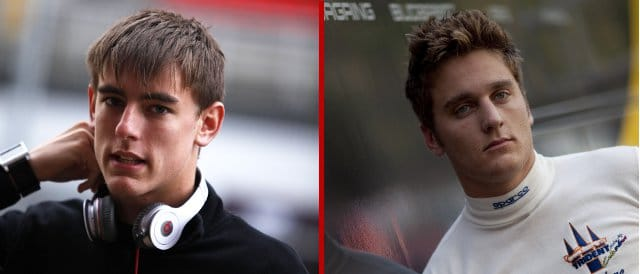 Kevin Ceccon (left) and Stefano Coletti have been chosen by Toro Rosso for the Young Driver Test - Photo Credits: (Left)  Drew Gibson /GP2 Series Media Service; (right)  Alastair Staley/LAT Photographic