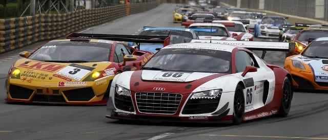 Edoardo Mortara leads the Macau GT field (Photo Credit: GCS)