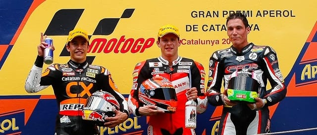 The Moto2 Podium at Catalunya - Photo Credit: MotoGP.com