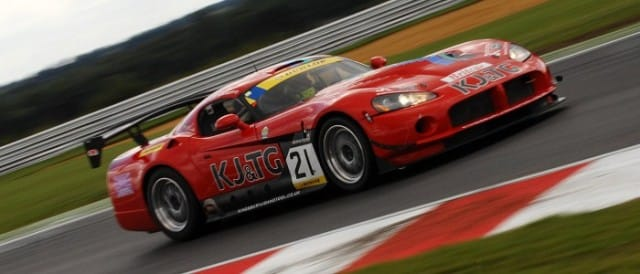Aaron Scott and Craig Wilkins' Dodge Viper in Britcar competition (Photo Credit: Chris Gurton Photography)