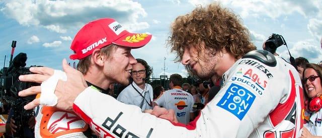 Casey Stoner & Marco Simoncelli - Photo Credit: MotoGP.com