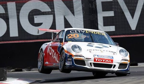Ben Barker takes his maiden win in Porsche Carrera Cup AustraliaPhoto credit: Dirk Klynsmith/GraphicDak