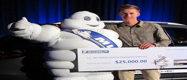 Ben Barker receives Michelin Australia Sportsperson of the year award Photo Credit: Michelin