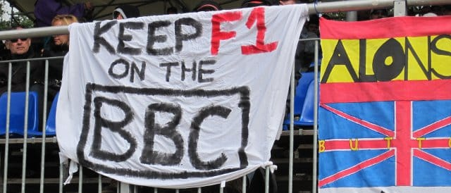 One month on from the announcement, this banner was spotted hanging on a grandstand at Spa - Photo Credit: David Bean