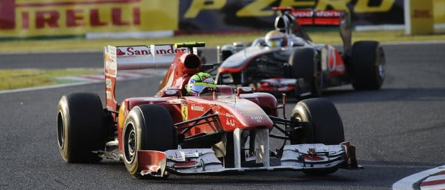 Hamilton gets ready to overtake Massa in Japan - you'll never guess what happened next - Photo Credit: Ferrari