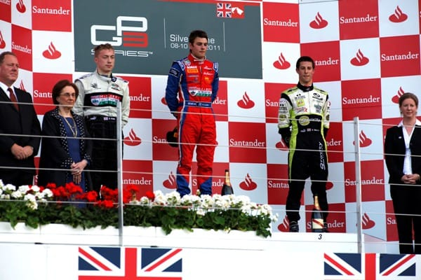 Lewis Williamson, Dean Smith and Alexander Sims - Photo Credit: Drew Gibson/GP3 Media Service