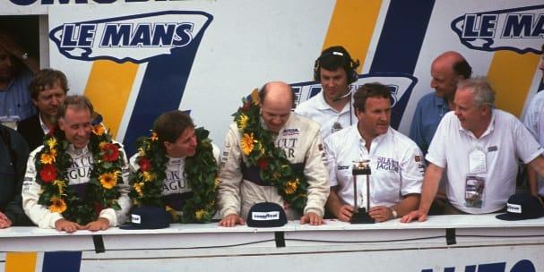 1990 24 Hours of Le Mans podium (Photo Credit: Nissan)