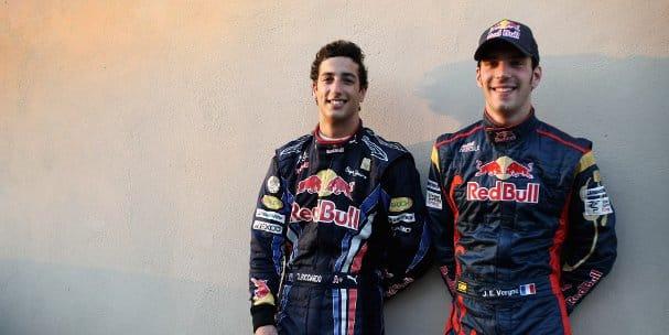 Daniel Ricciardo and Jean-Eric Vergne (Photo Credit: Andrew Hone/Getty Images)