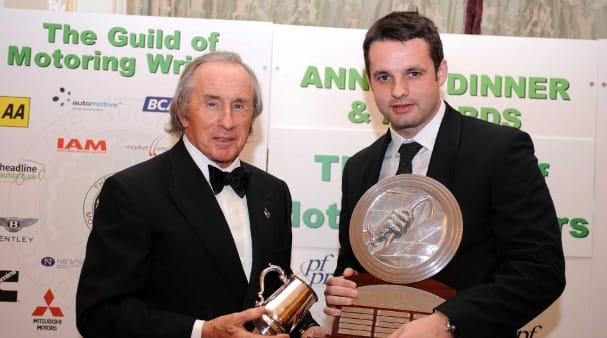 Tom Kimber-Smith with Sir Jackie Stewart