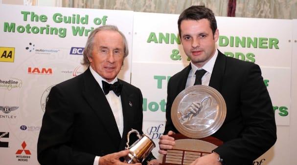 Tom Kimber-Smith with Sir Jackie Stewart
