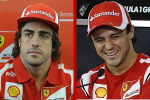 Alonso and Massa - Photo Credit: Ferrari