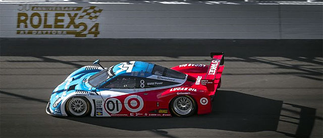The #01 Chip Racing with Felix Sabates car leading the way - Credit: Rolex / Stephan Cooper