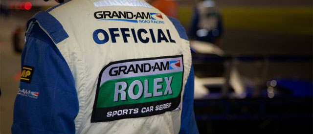 Grand AM official in pit lane - Credit: Rolex / Stephan Cooper