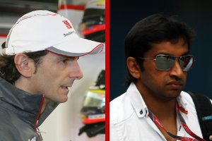 De la Rosa and Karthikeyan - Photo Credit: HRT
