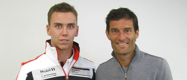 Daniel Lloyd and F1 driver Mark Webber