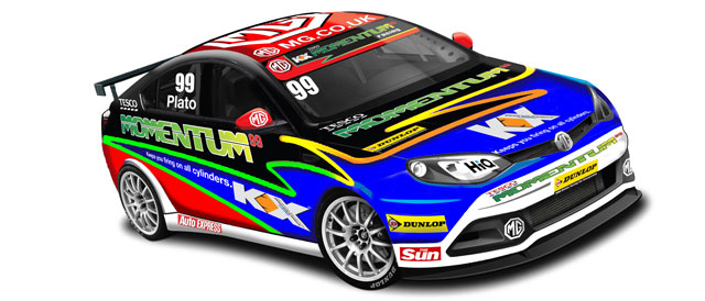 Artists impression of the MG KX Momentum Racing BTCC challenger