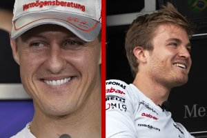 Schumacher and Rosberg - Photo Credit: Mercedes AMG GP