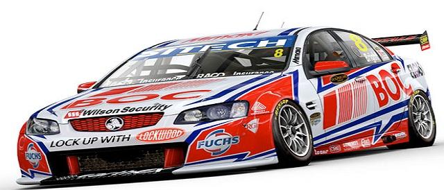 Jason Bright's new-look Team BOC #8 Commodore Photo credit: Brad Jones Racing