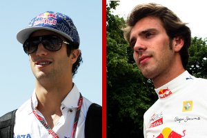 Ricciardo and Vergne - Photo Credit: HRT; Andrew Hone/Getty Images for Red Bull