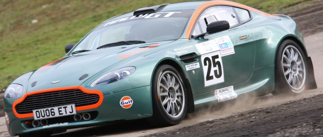 Supercars from Aston Martin share the event wiith more conventional rally cars