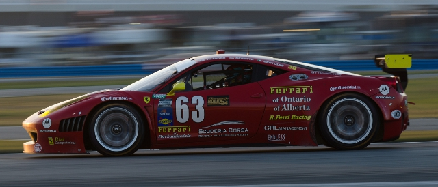 Risi Competizione's no.63 continues to feature in the lead battles in the GT class (Photo Credit: James Boone)