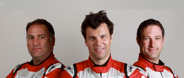 L-R: Team Bullrun drivers David Green, Richard Adams and Martin Byford