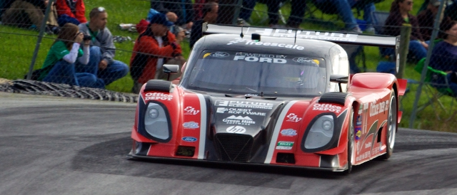 Doran Racing's Dallara-Ford at Mid-Ohio, driven by the Frisselle brothers (Photo Credit: Grand-Am)