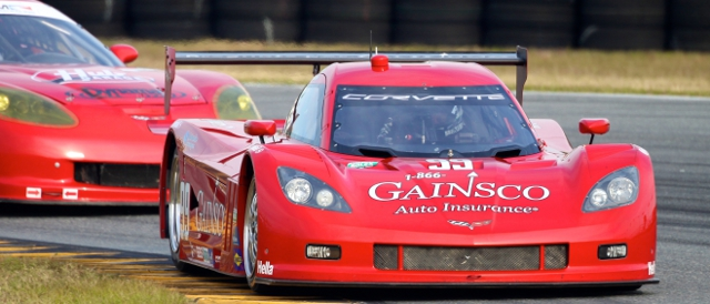 Alex Gurney's Gainsco sponsored Corvette DP (Photo Credit: Grand-Am)
