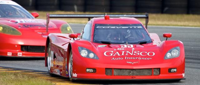 Alex Gurney's Gainsco sponsored Corvette DP (Photo Credit: Grand-Am)