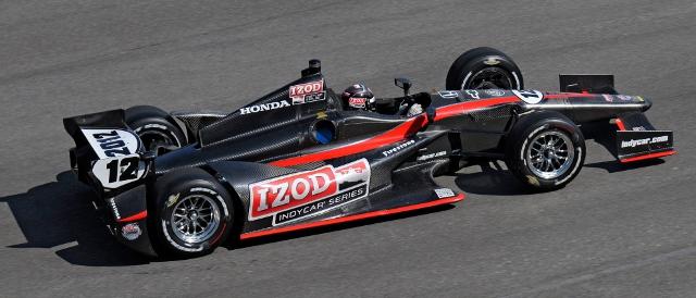 Dallara DW12 in testing (Photo Credit: Walt Kuhn)
