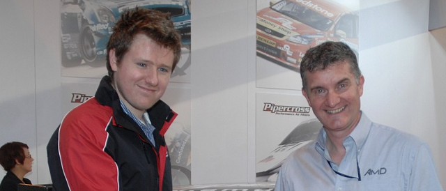 Ollie Jackson and Shaun Hollamby at Autosport Internation (Photo Credit: Chris Gurton Photography)