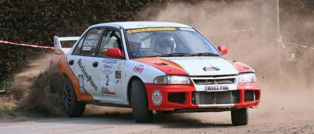 Andy Rowe and Cat Lund (Photo Credit: Bert Verstraete - BV Rally Pics)