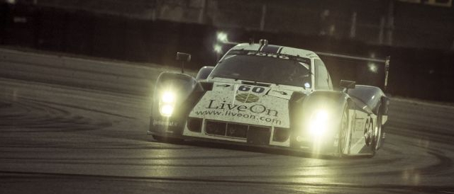 The no.60 LiveOn.com sposored Michael Shank Racing entry at the 2012 Rolex 24 at Daytona (Photo Credit: Rolex/Tom O'Neal)