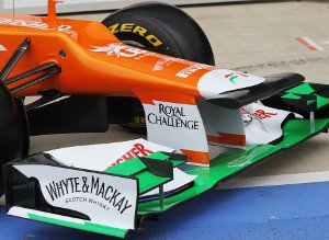 Like the Caterham (but not the McLaren) the new Force India has a strangely shaped nose - Photo Credit: Sahara Force India F1 Team