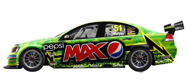 Greg Murphy's Pepsi Max Commodore Photo credit: Pepsi Max Crew