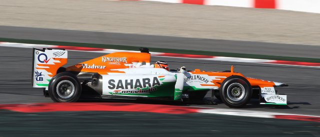Nico Hulkenberg recorded the fastest lap time on Day Two of the second test in Barcelona - Photo Credit: Sahara Force India Formula One Team