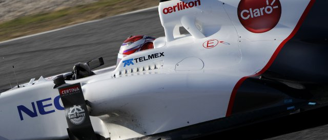 Kamui Kobayashi set the fastest time over the four day test in Barcelona, and completed more laps than any other driver - Photo Credit: Sauber Motorsport AG