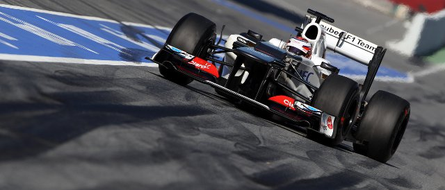 Kamui Kobayashi topped the timesheets on the final day of the second pre-season test - Photo Credit: Sauber