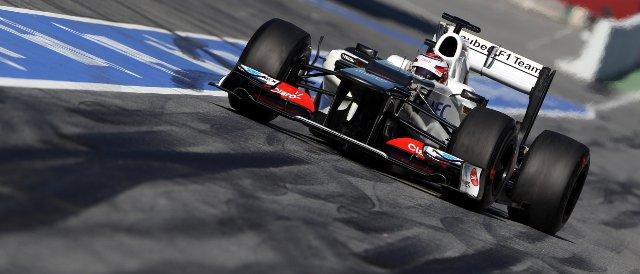 Kamui Kobayashi topped the timesheets on the final day of the second pre-season test - Photo Credit: Sauber