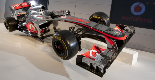 The nose of the new McLaren looks different to that of the new Caterham launched last week - Photo Credit: Vodafone McLaren Mercedes