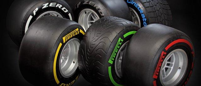 The six tyre compounds that make up Pirelli's 2012 F1 range - Photo Credit: Pirelli
