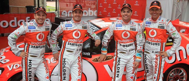 Dumbrell and Luff confirmed alongside Whincup and Lowndes for Sandown and Bathurst enduros Photo credit: TeamVodafone