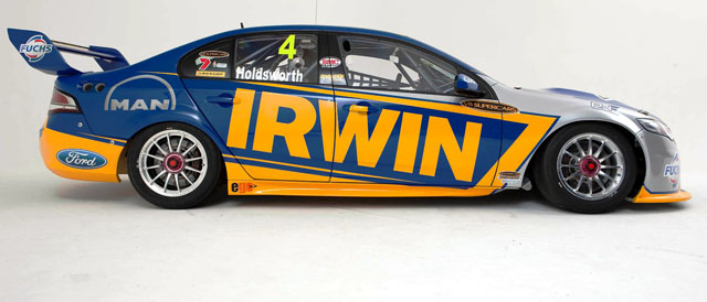Holdsworth delighted with 2012 irwin racing livery the for Irwin motors used cars