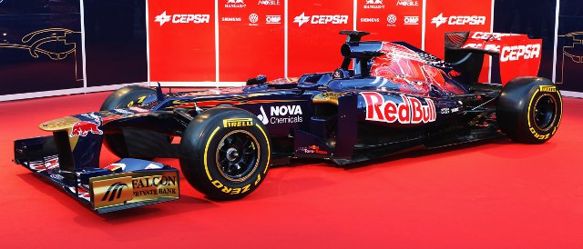 The new Toro Rosso STR7 - Photo Credit: Mark Thompson/Getty Images