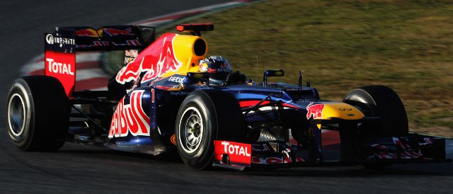 Sebastian Vettel and Red Bull topped the timesheets on Day One in Barcelona - Photo Credit: Mark Thompson/Getty Images