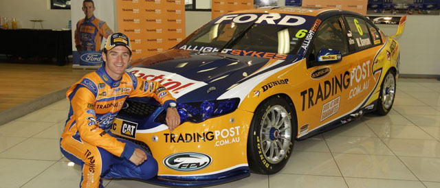 Will Davison with the 2012 Tradingpost FPR Falcon Photo credit: Ford Performance Racing